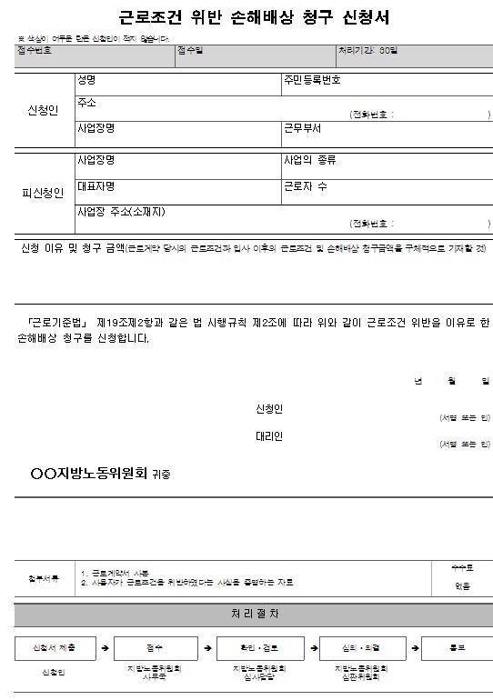 서식1_근로조건 위반 손해배상 청구 신청서.png