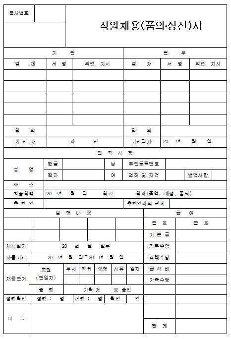 직원채용 품의서 상신서.png